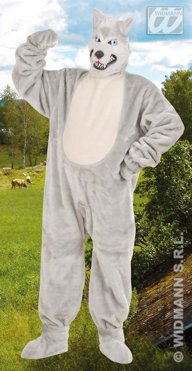 Plush Wolf Fancy Dress Costume (Animals)