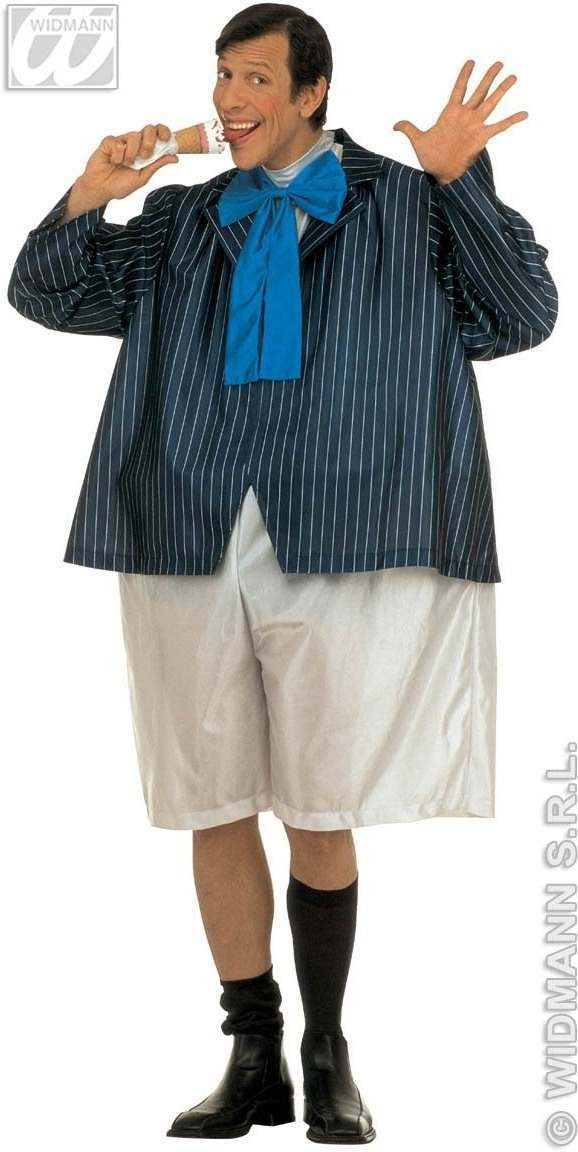 Fat Schoolboy Costume Costume Mens Size 40-44 M (School)