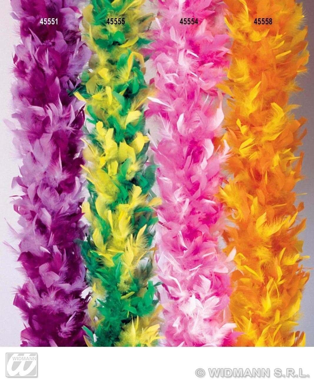 Feather Boa White/Purple Deluxe 180Cm - Fancy Dress