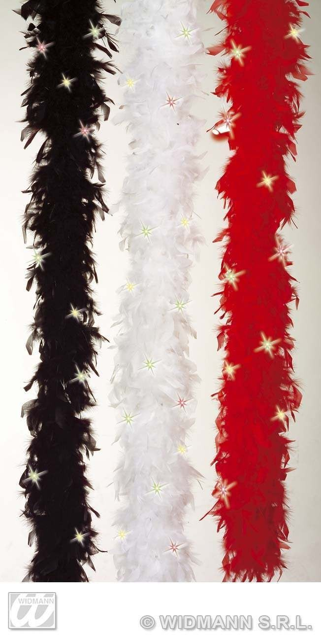 Feather Boa Light Up 3Cols - Fancy Dress
