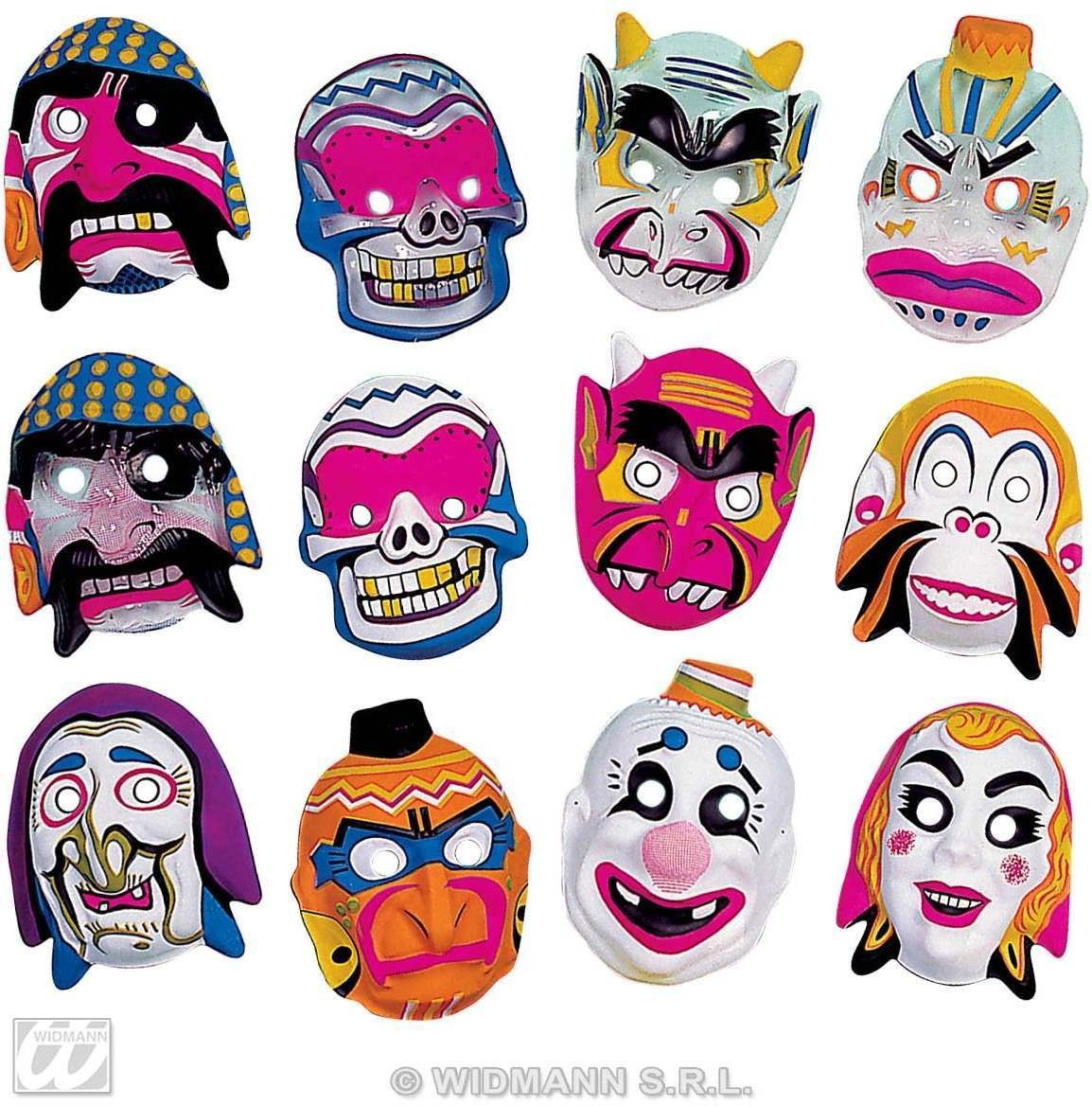 Child Plastic Character Masks 12 Styles - Fancy Dress