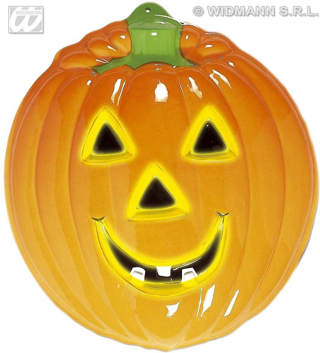 Giant Neon 3D Pumpkin 58X50Cm - Fancy Dress (Halloween)