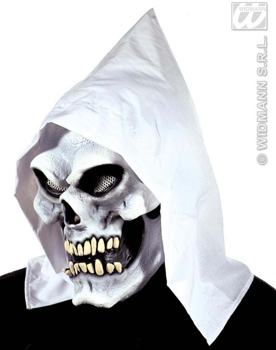 Skull Mask W/Hood Gid Eyes And Teeth - Fancy Dress