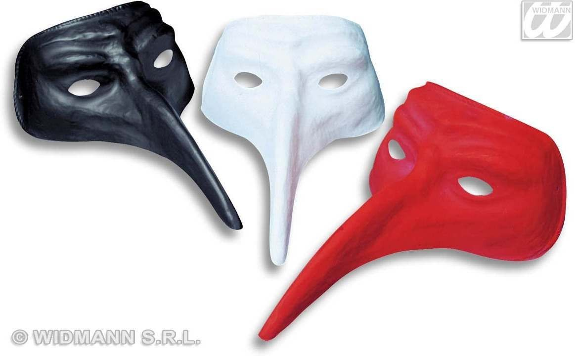 Venice Mask W/Extra Long Nose Plastic - Fancy Dress