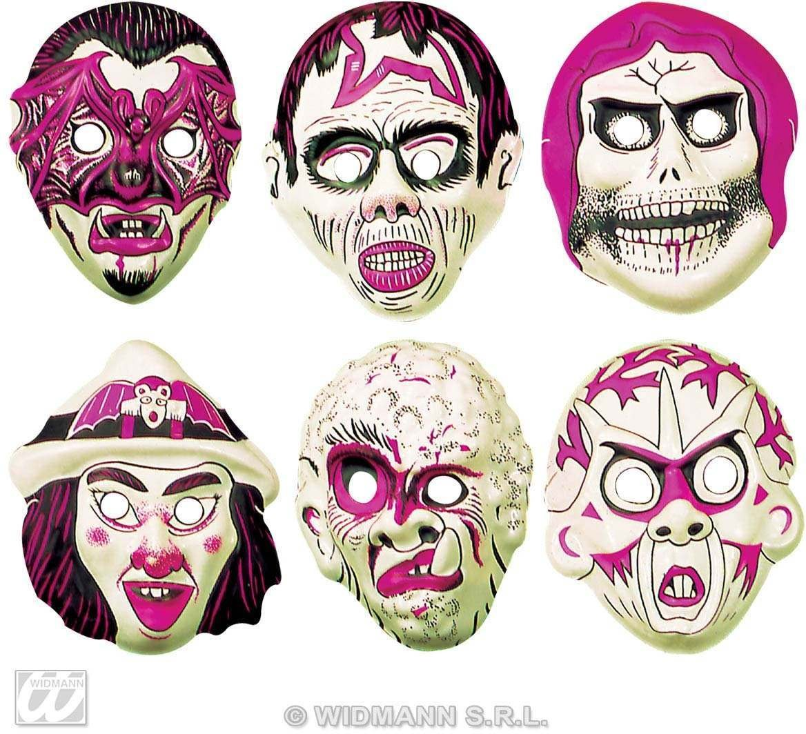 Child Plastic Glow In The Dark Masks Fancy Dress
