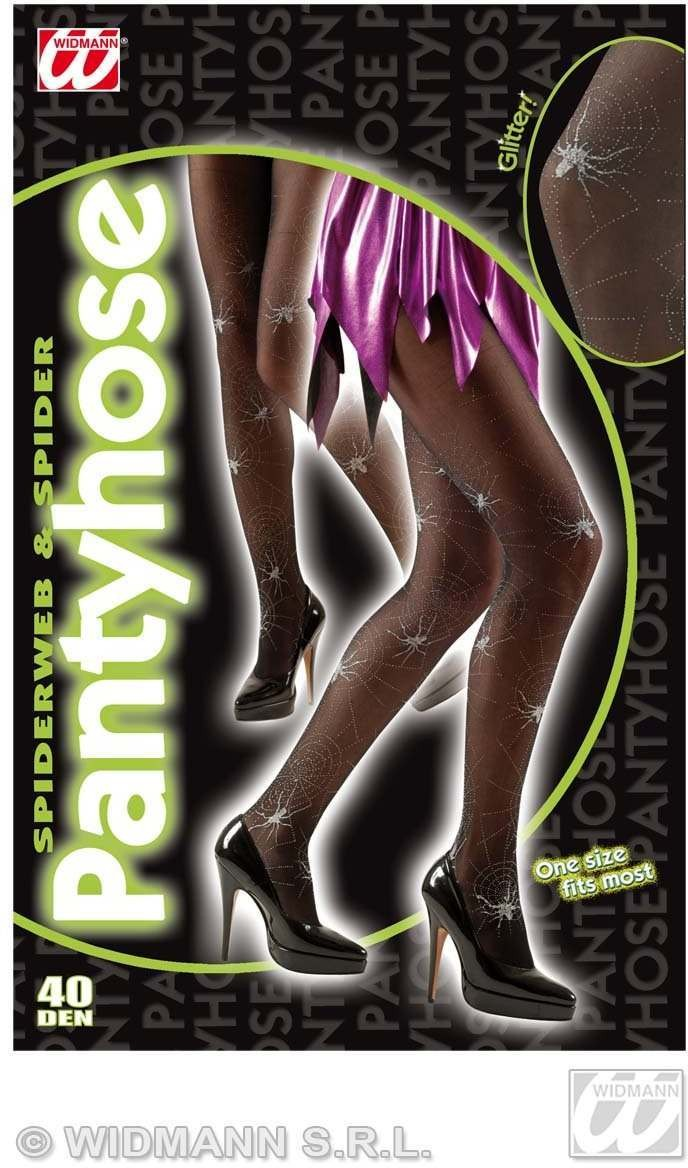 Spiderweb Glitter Silver Pantyhose 40 Den - Fancy Dress (Halloween)
