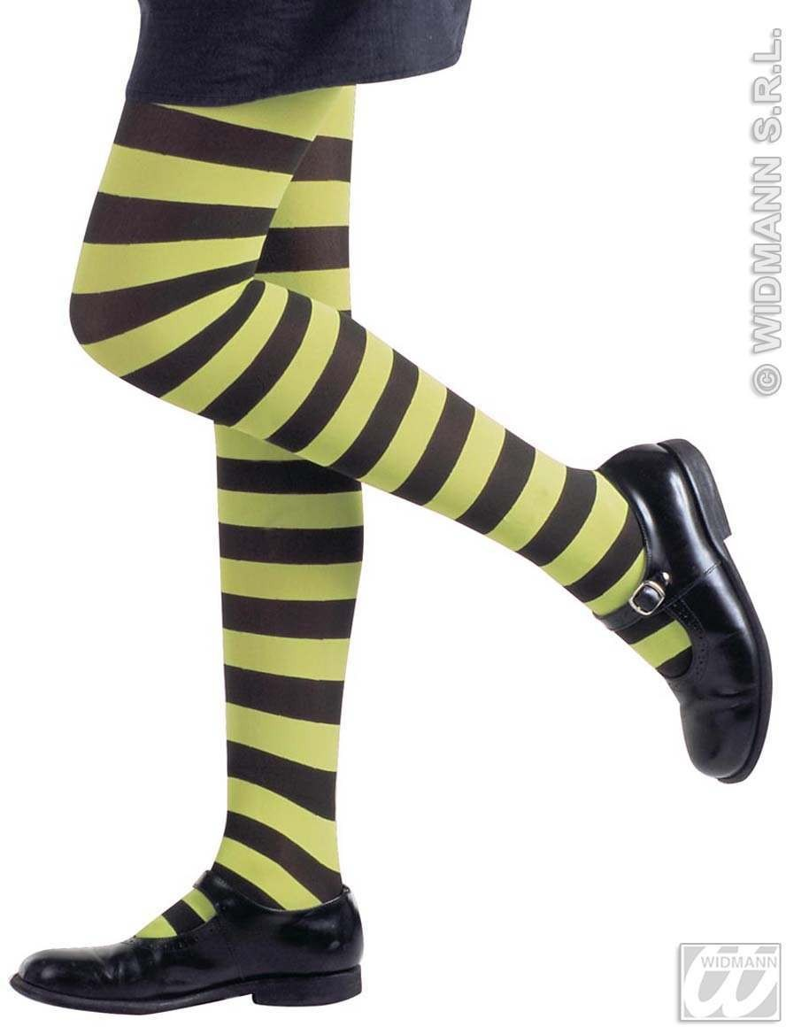 Neon Striped Pantyhose Childs - Fancy Dress Girls