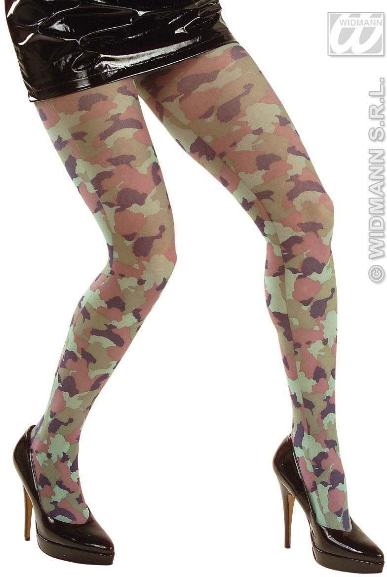 Camouflage Pantyhose - Fancy Dress (Army)