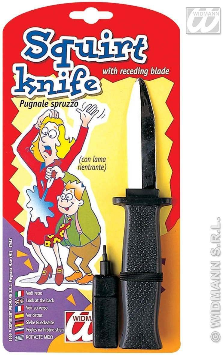 Squirt Knives With W/Receeding Blade Fancy Dress
