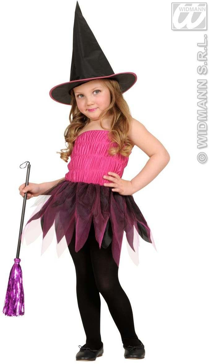 Beauty Witch Dress, Hat, Broom 98, 104Cm Costume (Halloween)
