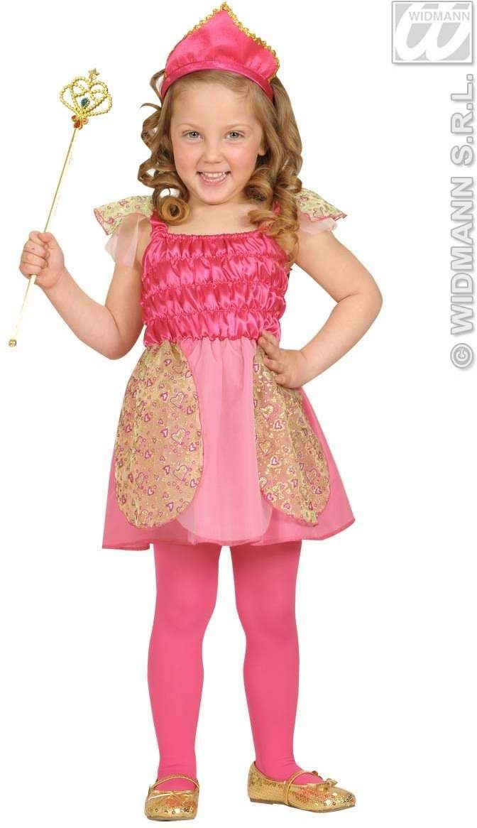 Beauty Pink Princess Dress, Tiara 98, 104Cm Costume (Royalty)