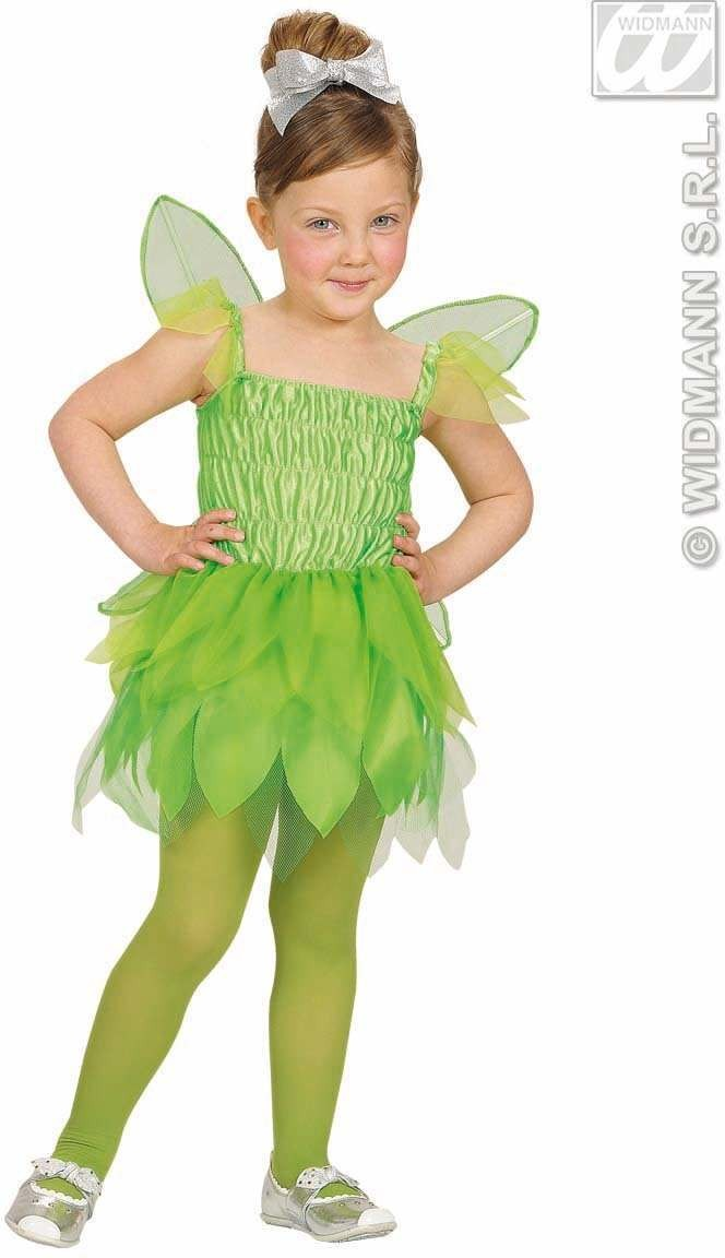 Beauty Green Pixie Dress, Wings 98, 104Cm Costume (Fairy Tales)