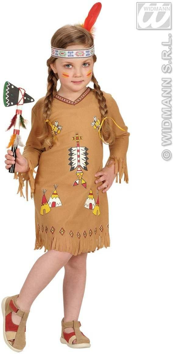 Indian Girl Dress,Headband 98, 104 Cm Costume (Cowboys/Indians)