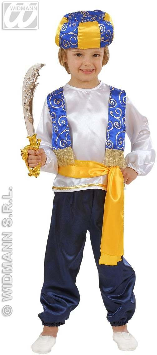 Arab Prince Child Costume 1-2 Fancy Dress Costume Boys (Royalty)