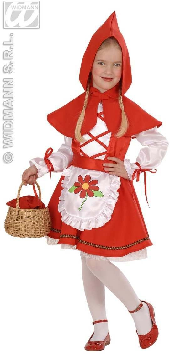 Red Capelet - Dress, Belt, Hooded Capelet Fancy Dress (Cartoon)