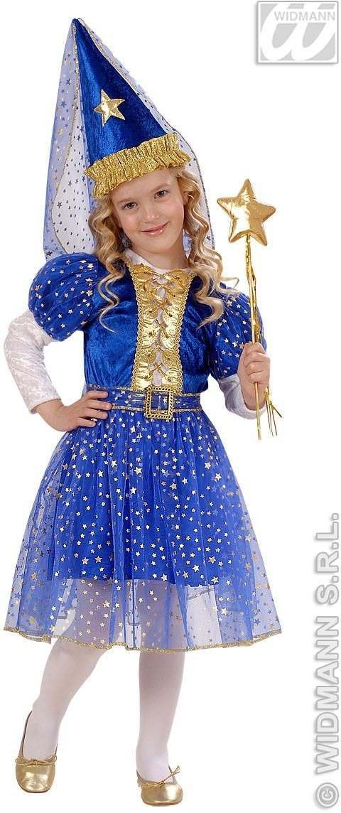 Starry Fairy - Dress, Belt, Hat With Veil Fancy Dress (Fairy Tales)