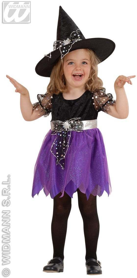 Lil Witch Costume Child 2-3 Fancy Dress Costume Girls (Halloween)