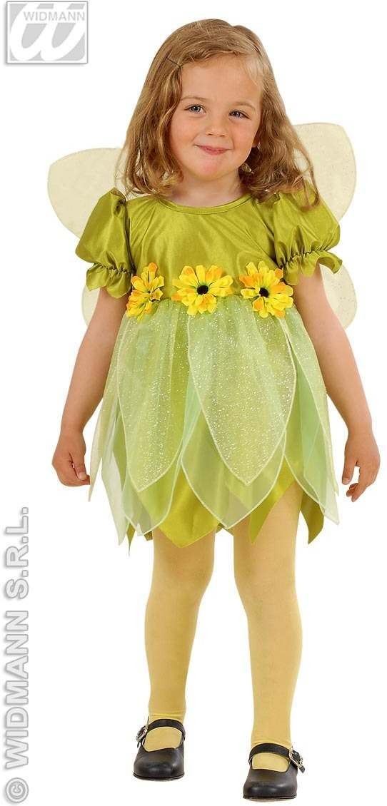 Lil' Green Flower Fairy With 98-104Cm Fancy Dress Girls (Fairy Tales)