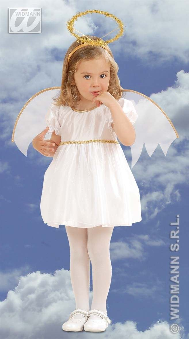 Lil' Angel With Dress-Wings-Halo Fancy Dress Girls