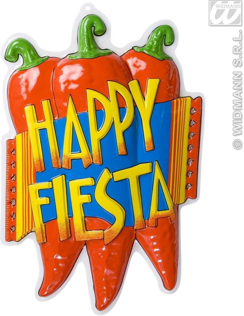 3D Happy Fiesta Chili Pepper Decor. 36X51Cm Fancy Dress