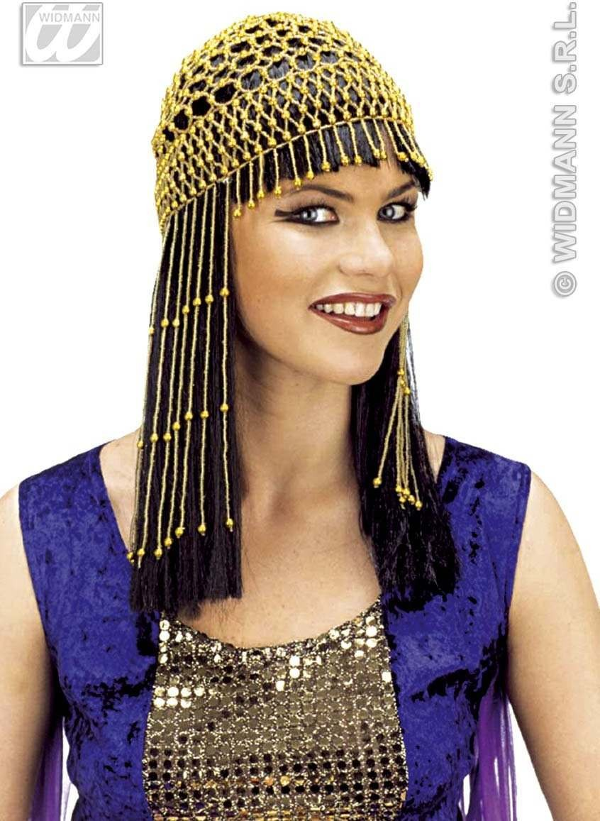 Beaded Headress Long Gold/Silver - Fancy Dress