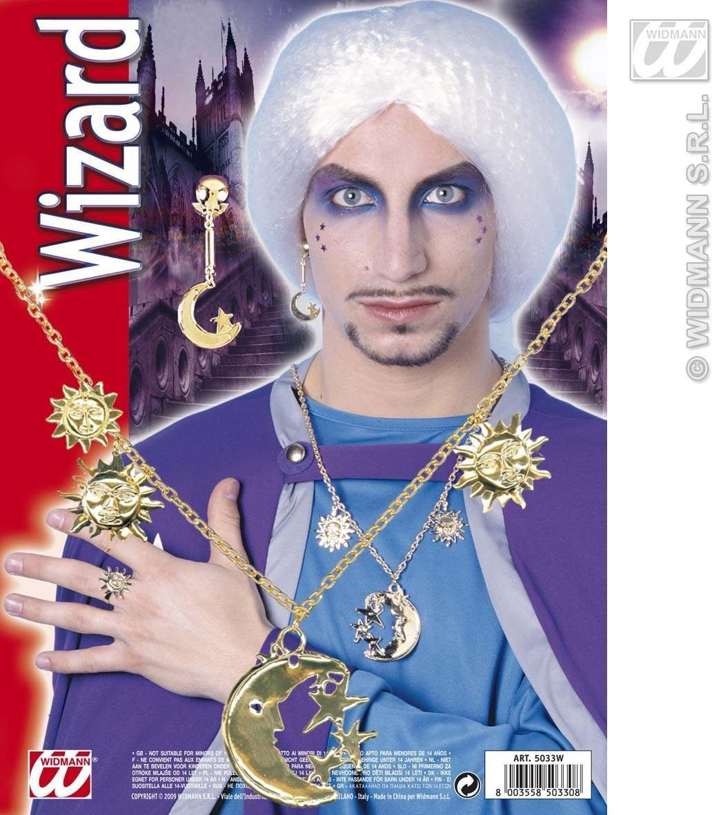 Wizard Set With Necklace, Earring And Ring Fancy Dress