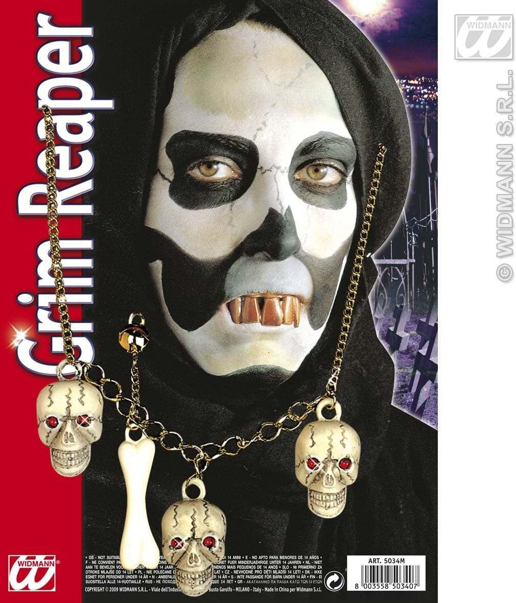 Phantom Set Necklace Earrings - Fancy Dress (Halloween)