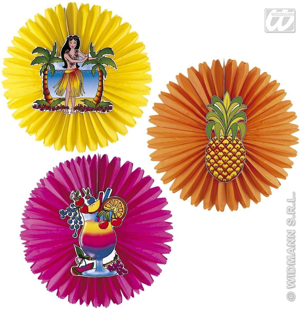 Aloha Paper Fan 3 Styles - Fancy Dress