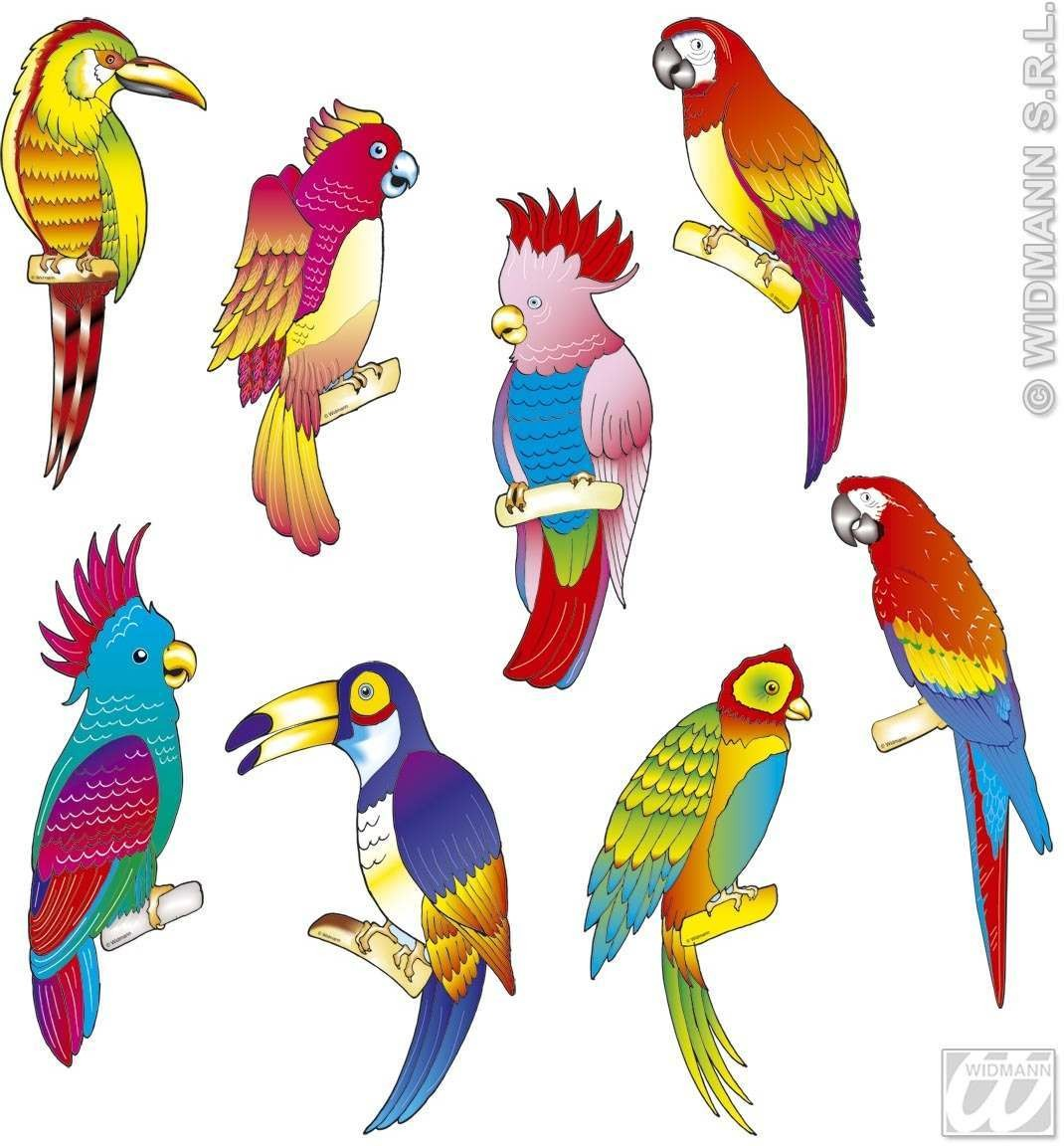 Tropical Bird Cutouts 8 Styles - Fancy Dress