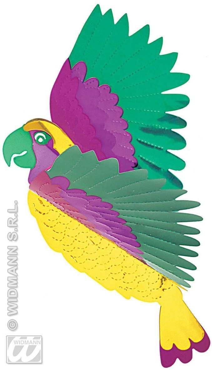 3D Metallic Parrots 36X28Cm Fancy Dress