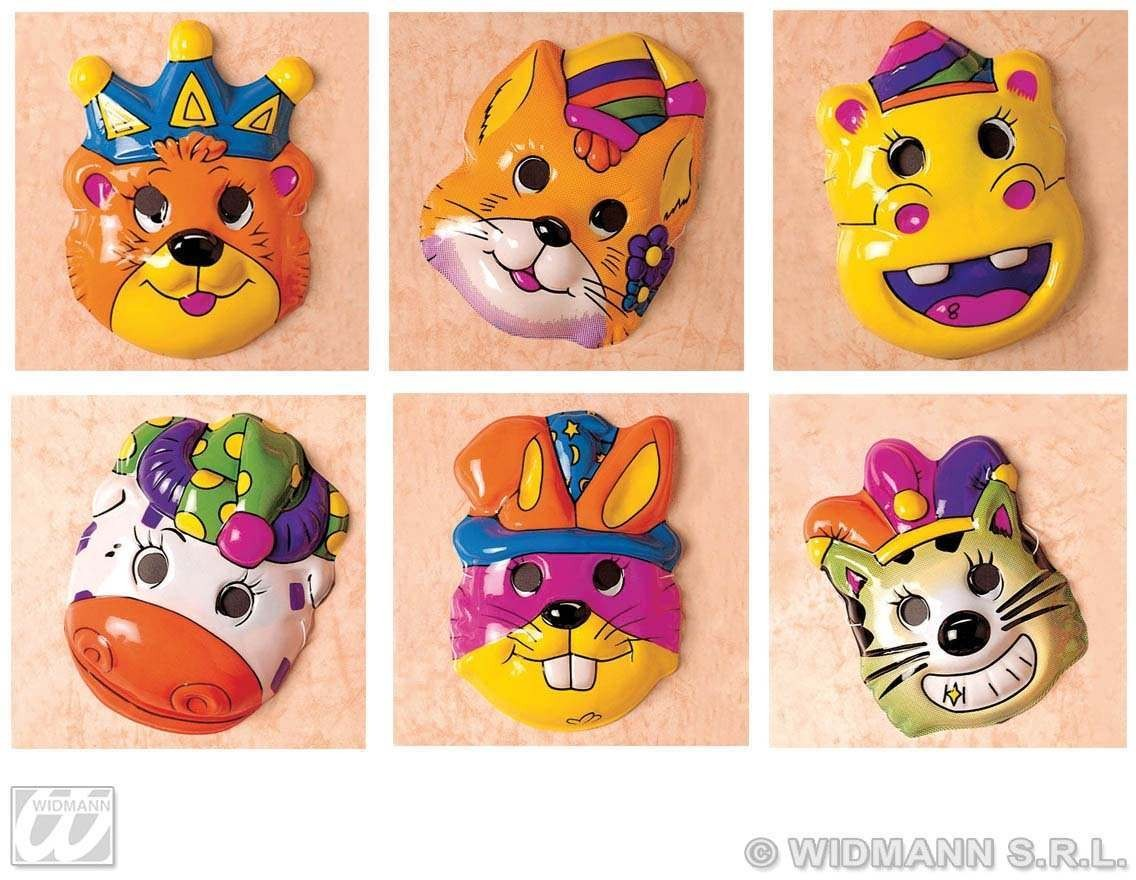 Child Plastic Puppies Masks - 6 Styles Fancy Dress