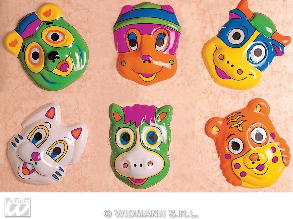 Child Plastic Sweethearts Masks 6 Styl. Fancy Dress