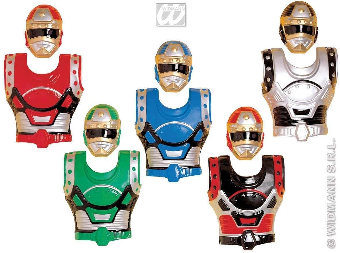 Mask And Armour Set 5 Colours - Fancy Dress