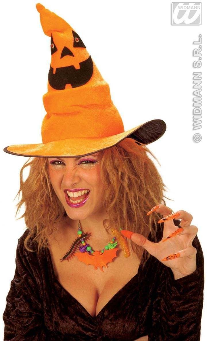 Witch Hat Velvet - Light Up - Fancy Dress (Halloween)