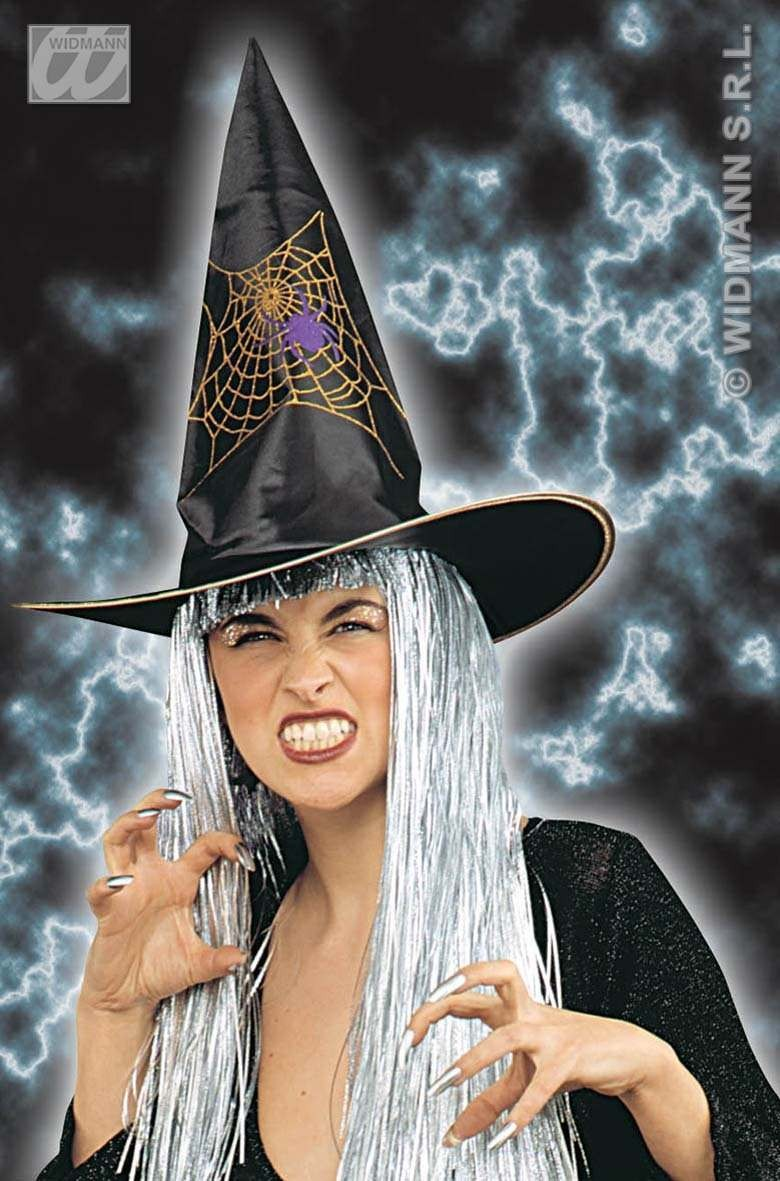 Witch Hat W/Glitter Decoration 2 Styles - Fancy Dress (Halloween)