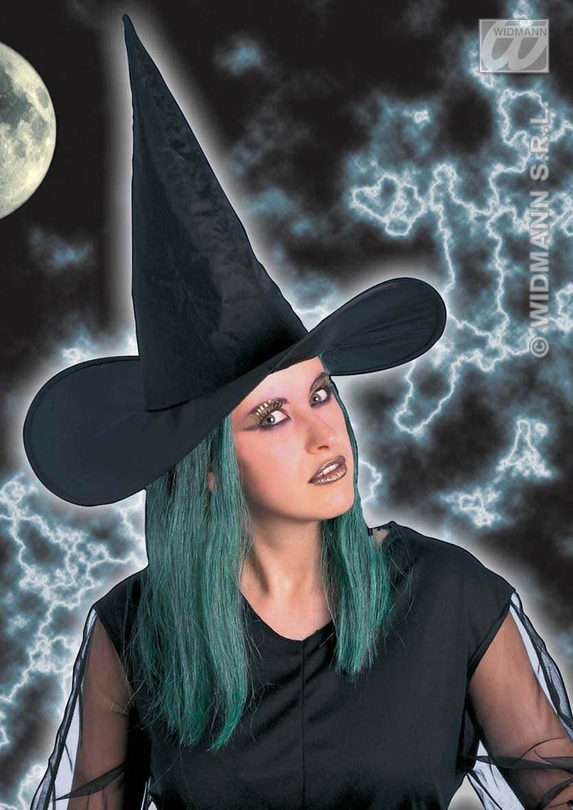 Witch Hat W/Green Hair - Fancy Dress (Halloween)