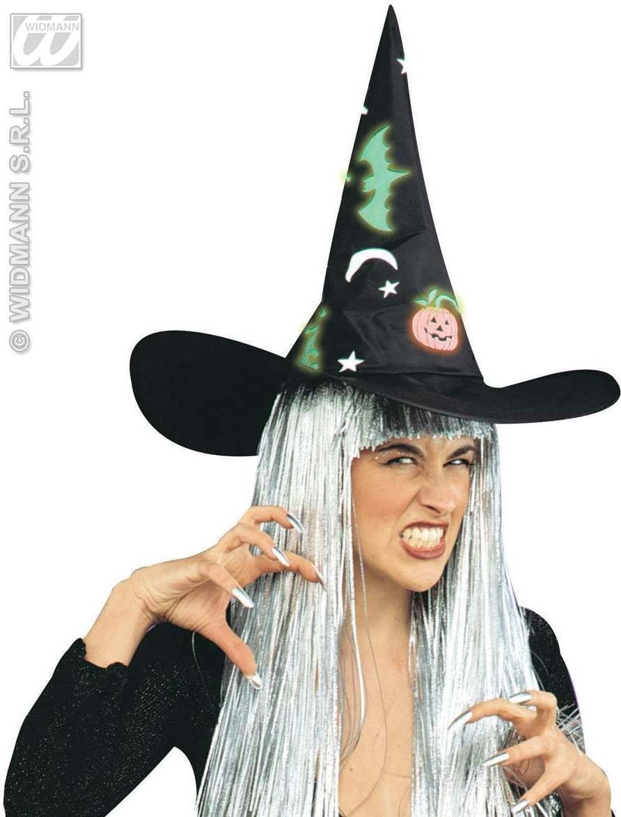 Witch Hat W/Gid Decs - Fancy Dress (Halloween)