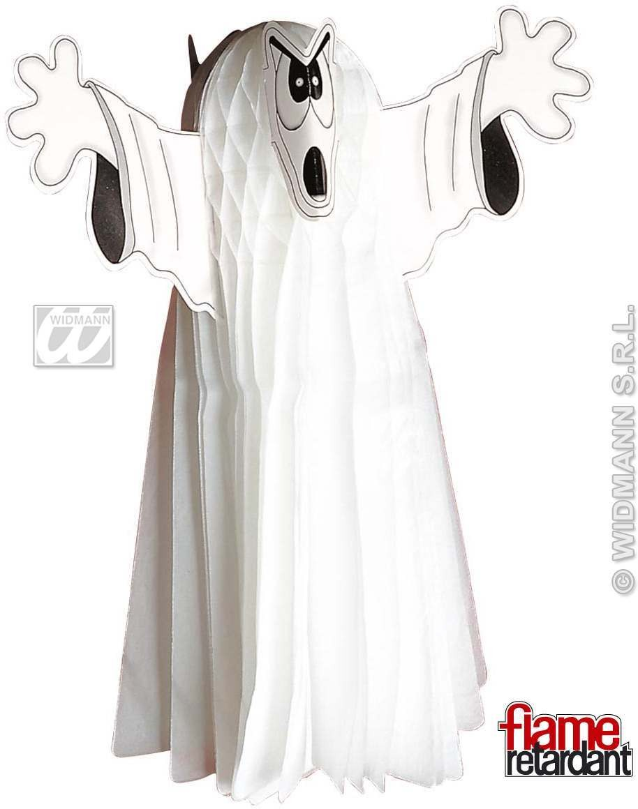 Flame Rt.Giant Neon Honeycomb Ghosts 76Cm Fancy Dress (Halloween)