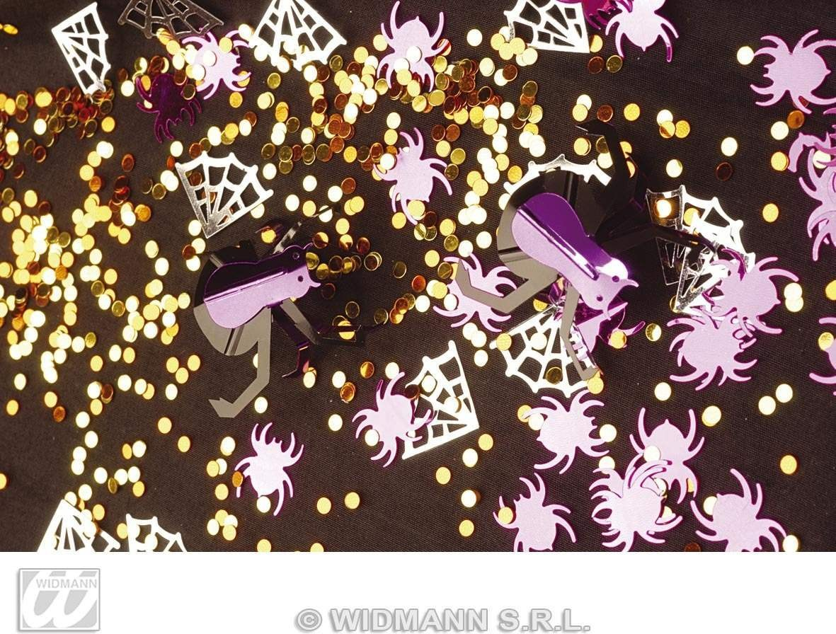 3D Spider Confetti Metallic - Fancy Dress (Halloween)