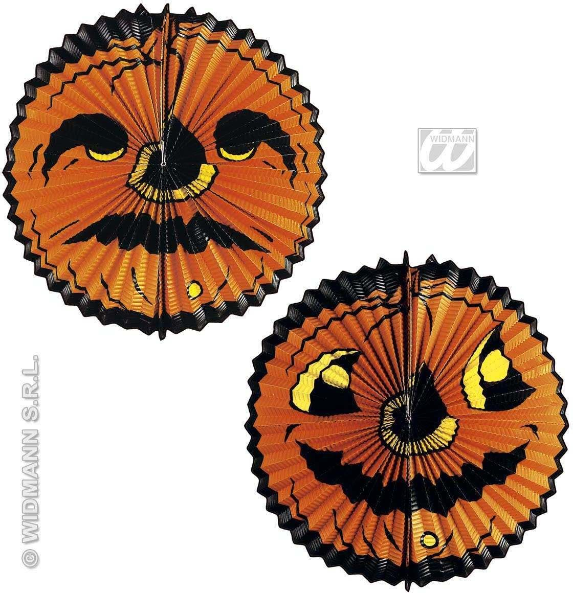 Double Face Pumpkin Paper Ball Decoration - Fancy Dress (Halloween)
