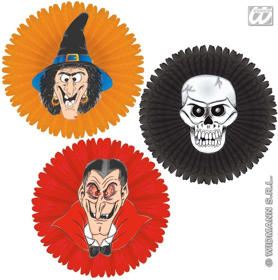 Halloween Paper Fan 3 Styles - Fancy Dress (Halloween)