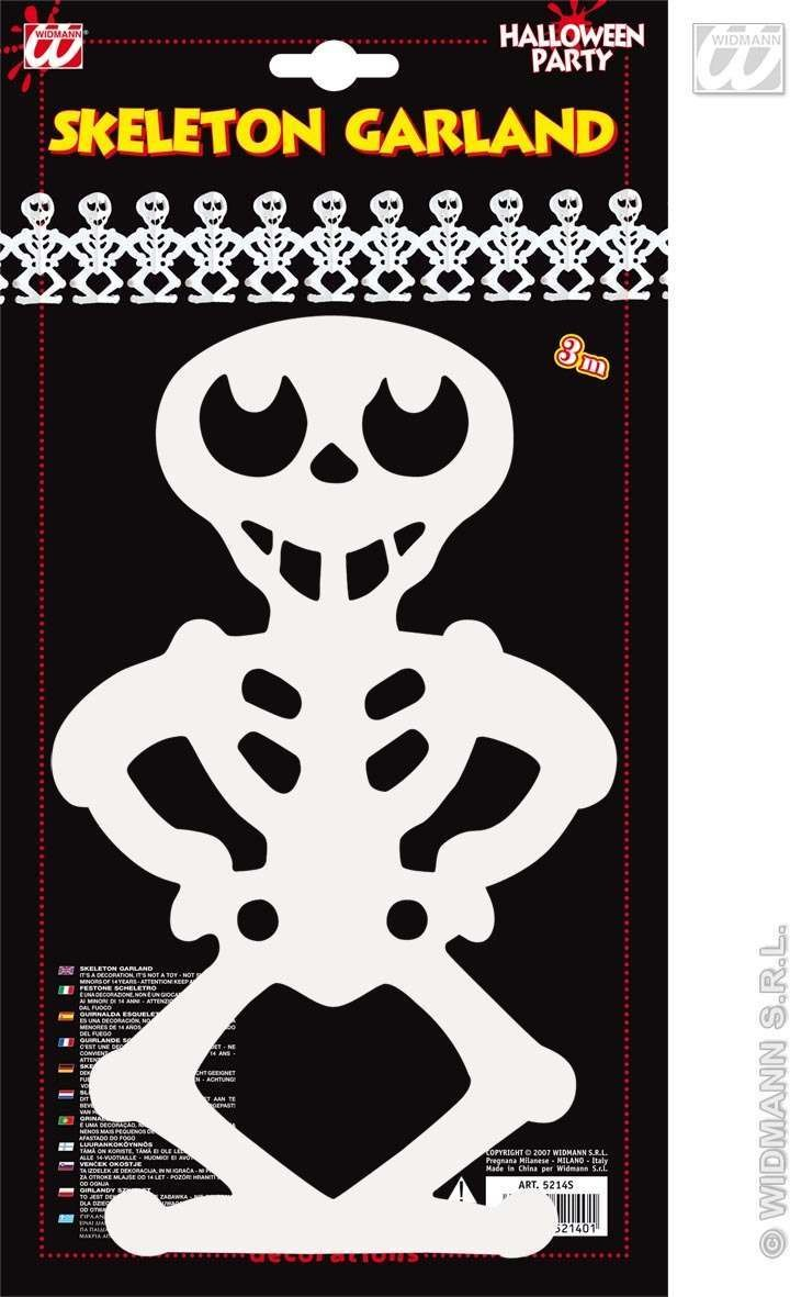 Skeleton Garland 3M **See 5215 - Fancy Dress (Halloween)