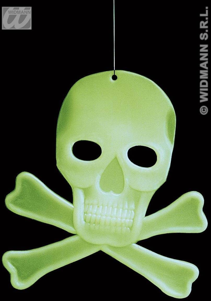 Glow In Dark 3D Skulls & Bones-27X23Cm Fancy Dress (Halloween)