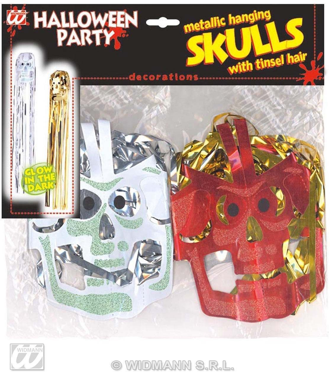 Gid Metall Hanging Skulls Set 2 - Fancy Dress (Halloween)