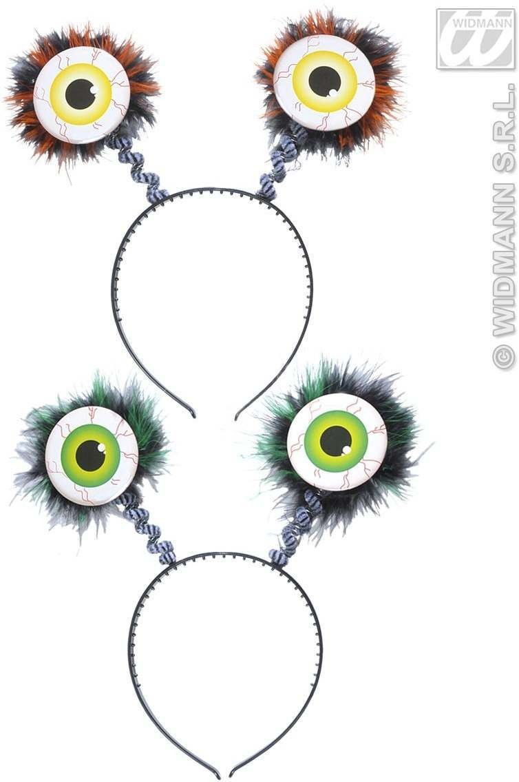 Feathered Eyes Head Boppers 2 Colors Ass. - Fancy Dress
