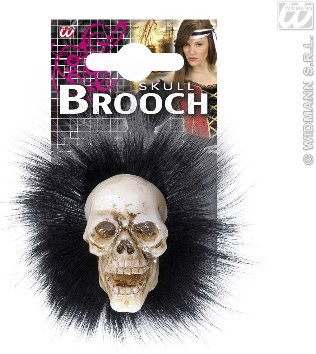 Skull Brooches With Feathers - Fancy Dress