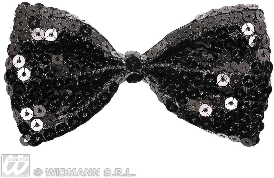 Black Sequin Bow Ties - Fancy Dress