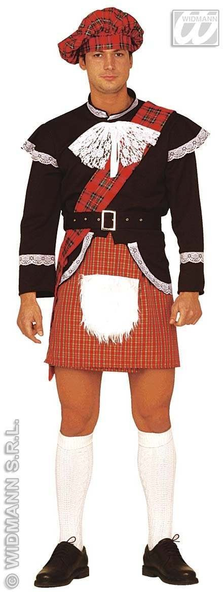 Scottish Kilt With Surprise Fancy Dress Costume (Cultures)