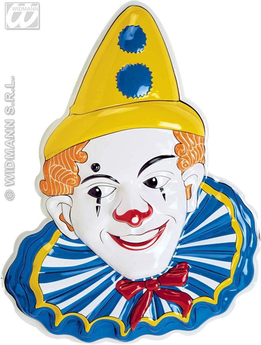 Pvc 3D Clown With Hat Decorations-64X46Cm Fancy Dress (Clowns)