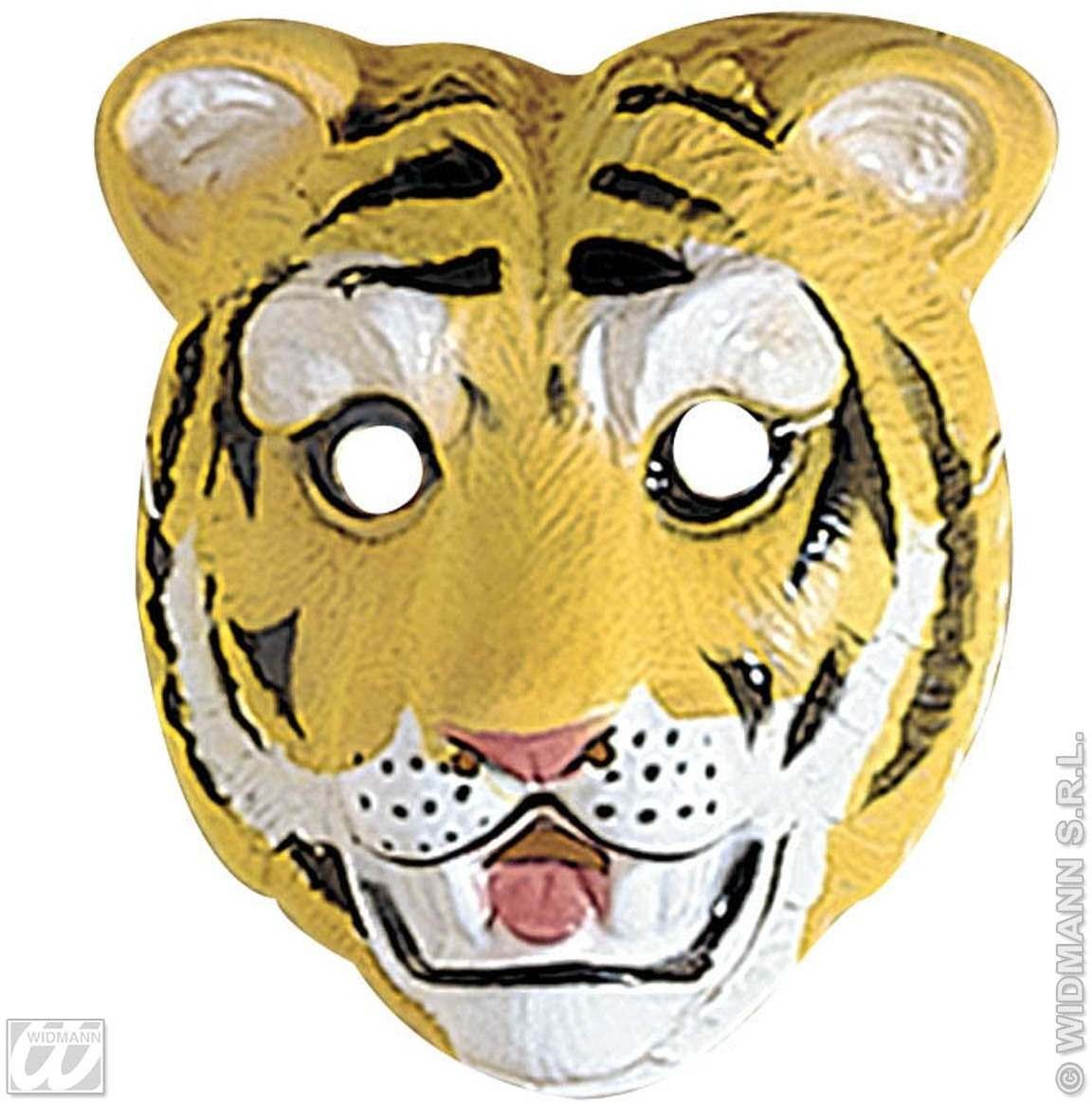 Tiger Mask Plastic Child - Fancy Dress (Animals)